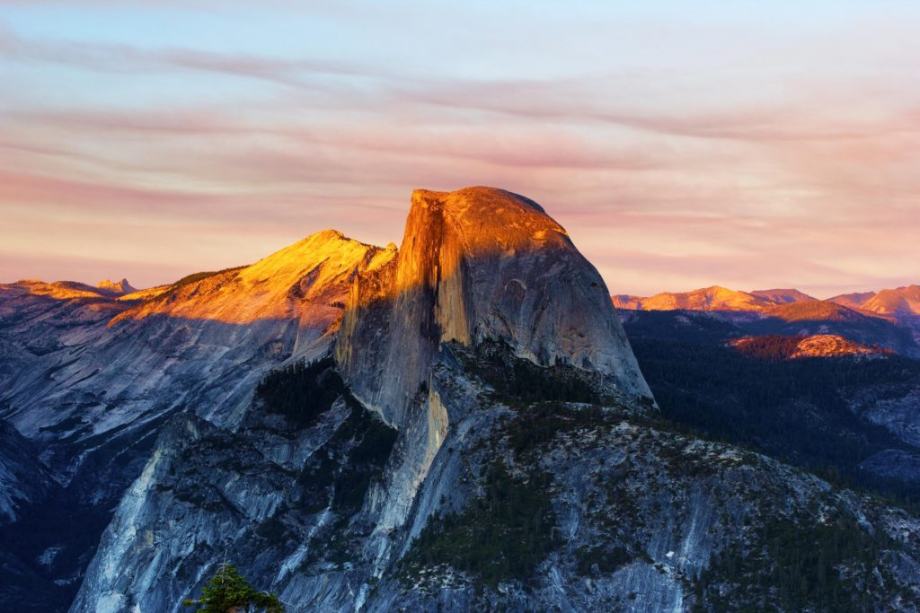 The Half Dome fra Glacier point