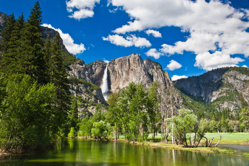 Vandfald i Yosemite nationalpark