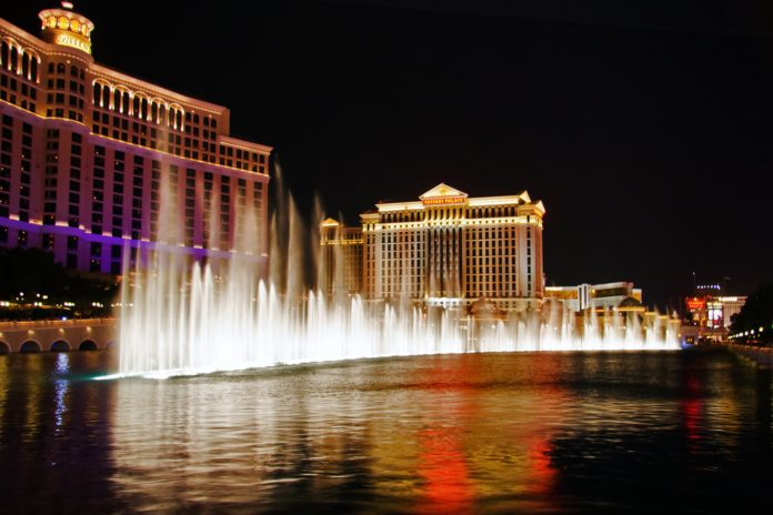 Musical fountains i Las Vegas